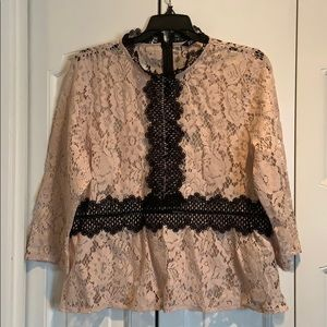 Zara Lace Peplum top